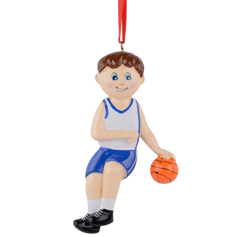 maxora basketball boy girl polyresin glossy sports christmas ornaments personalized gifts or for home decor in pendant drop ornaments from home garden