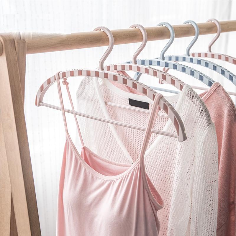 10pcs/lot 40cm/43cm arc-shaped plastic anti-skid clothes rack, multi-functional adult household clothes hanger