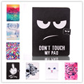 Don't Touch My Pad Folding leather Stand cover case For iPad 2 3 4 Case cute Cat Tower Flower wallet case cover for ipad 4