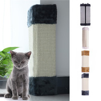 Cat Scratches Board Pet Kitten Wall Corner Scratching Mat Post Tree Scratcher Sisal Hemp Kitty Pet Plush Flying Toys