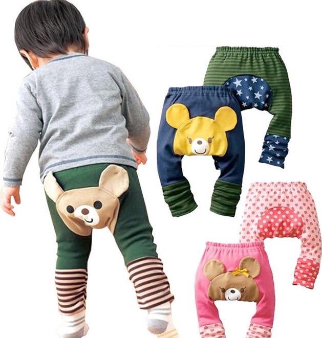 muti desen çocuk Toddler unisex erkek kız bebek tozluk pp pantolon pamuklu pantolon