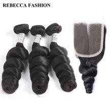 Rebecca бразильский Реми свободная волна пучки волос с Накладные волосы для волос Salon человека Синтетические волосы соткут 2/3 Связки 1 упак. Бесплатная доставка