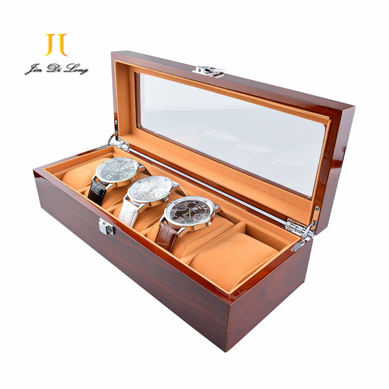 New 5 Grids Watch Boxes Wooden Watch Display Box Piano ...