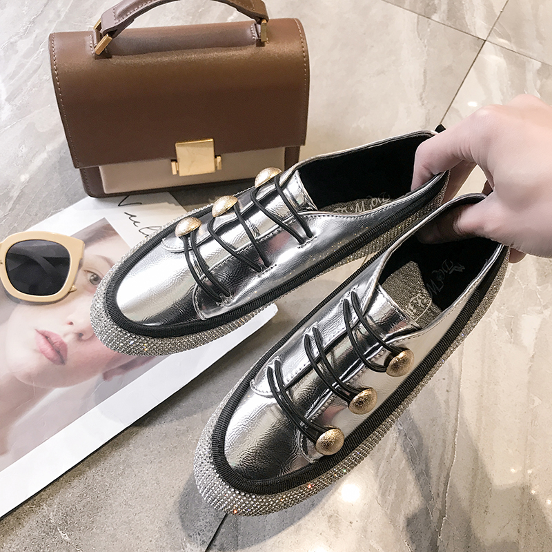 YUANMING Women Casual Shoes Women Flats Spring Autumn Summer Female Shoes Lace Up PU Leather Comfortable Fashion for Women Shoes in Women 39 s Flats from Shoes