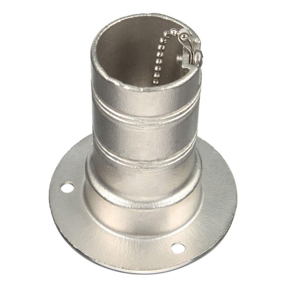 """Stainless Boat Waste Tank Deck Fill port w// key 2"""""""