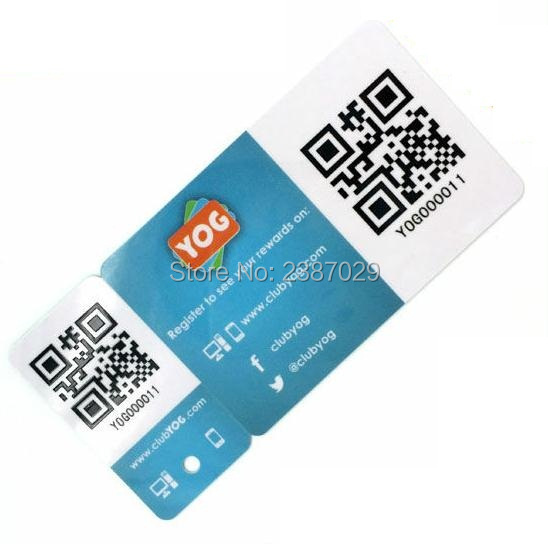 CMYK Offset Printing Custom Shape Plastic QR Barcode Die Cut Combo Card + 1 Key tags 200PCS/lot free shipping 1000pcs lot factory price cmyk customized printing pvc combo card die cut key tag with qr barcode