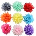 10 unidades/pacote bonito menina grampos de cabelo chiffon flor grampos de cabelo crianças acessórios