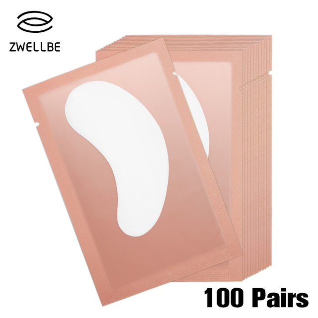 100pairs/pack New Paper Patches Eyelash Under Eye Pads Lash Eyelash Extension Hydrating Eye Tip Stickers Wraps Make Up Tools