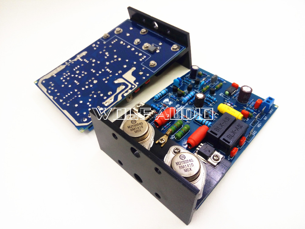 цена на Assembled CLONE QUAD405 ONSEMI MJ15024 Amplifier Board With MJ15024 +Angle aluminum (2 channel)
