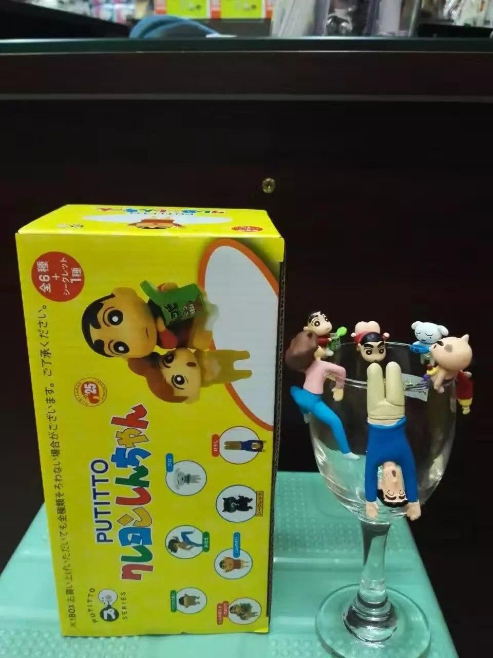 Kitan Club PUTITTO Crayon Shin chan mini tea cup friends figure toys gift box
