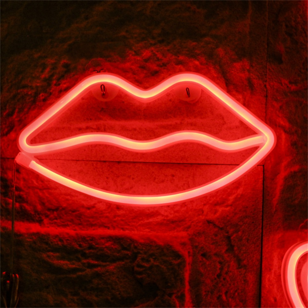 Lip Sign Neon Light Decorative LED Night Lights Room Decoration Birthday Wedding Party Home Wall Decor Valentines Day GiftLip Sign Neon Light Decorative LED Night Lights Room Decoration Birthday Wedding Party Home Wall Decor Valentines Day Gift
