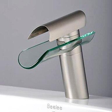 ФОТО Contemporary Waterfall Tap Bathroom Sink Faucet,Torneira Para De Banheiro Modocomando