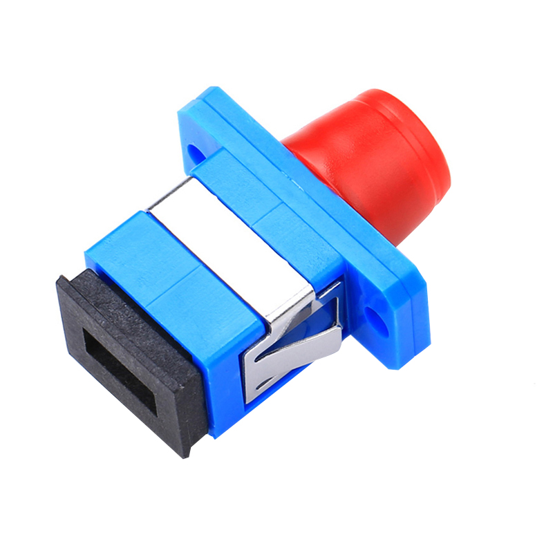 50pcs/lot FC-SC Hybrid Singlemode Simplex Plastic Fiber Optic Adapter FC SC /UPC with Flange, fiber connector free shipping