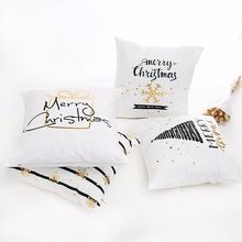 FENGRISE Merry Christmas Pillow Case Cushion Covers Navidad Christmas Decoration For Home Happy New Year 2019 Navidad Xmas 2018