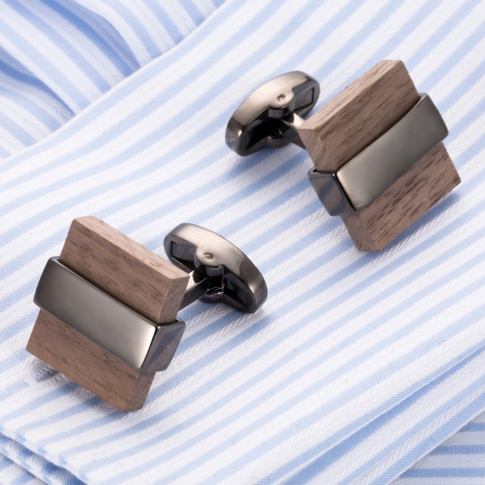 VAGULA 2018 Hot Sale Wood Cufflinks French Shirt Cuff links High Quality Men jewelry Gemelos Vintage Bouton 802VAGULA 2018 Hot Sale Wood Cufflinks French Shirt Cuff links High Quality Men jewelry Gemelos Vintage Bouton 802