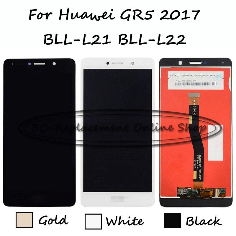 imágenes para Negro/Blanco/Oro 5.5 pulgadas Para Huawei GR5 2017 BLL-L21 BLL-L22 Pantalla LCD + Pantalla Táctil Digitalizador Asamblea reemplazo