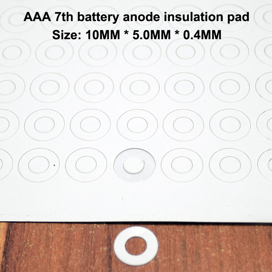 100 Ânodo Da Bateria De Lítio Aaa 7 pçs/lote Méson Junta de Isolamento Pad Papel de Ponta Oca Paquistanês Rápida Diy Acessórios