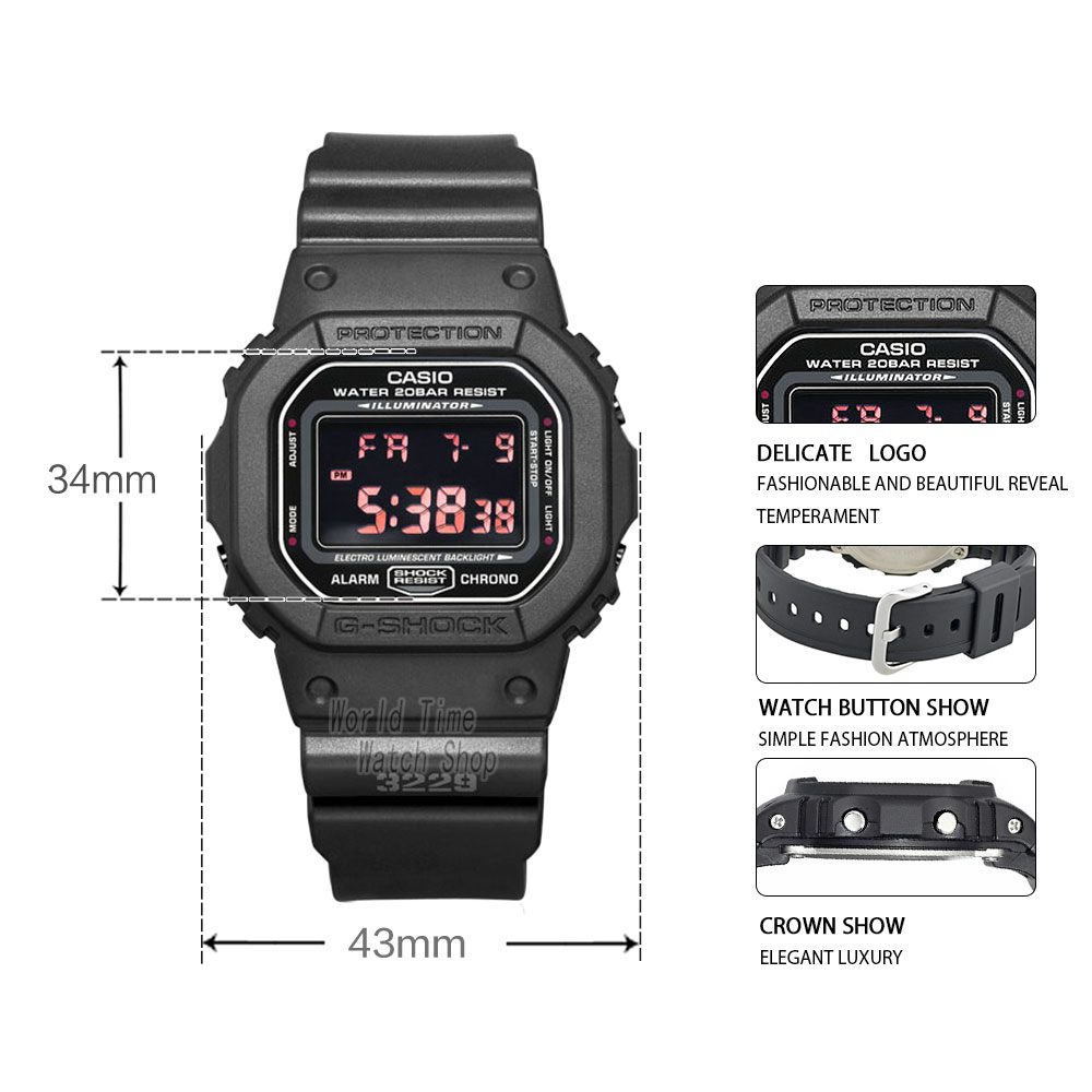 Casio watch G-SHOCK Men s quartz sports watch trend square dial waterproof g  shock Watch DW-5600 176130c8ef