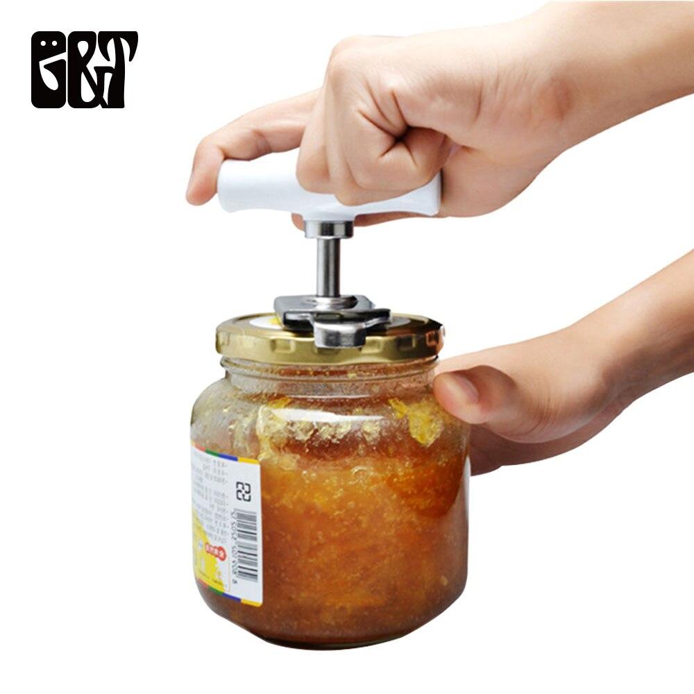 נירוסטה פותחן קופסות מתכוונן פתיחת צנצנת ידנית ספירלת חותם מכסה מסיר לסובב את בורג בקבוק פותחן מטבח גאדג 'טים