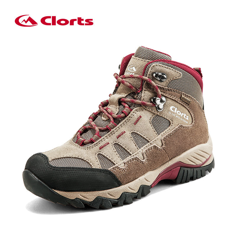 Clorts Men Hiking Shoes Mid-cut Cow Suede Hiking Boots Rubber Sport Trekking Shoes for Men HKM-823 seger носки trekking mid черный