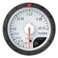 60mm Turbo Boost Gauge Meter 200kPa for BMW E 30 34 36 38 39 46 53 60 82 83 87 90 92 F 11 20 White Red Light Color