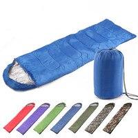 0 7KG 180 30 75cm Outdoor Four Seasons Envelope Type Cotton Sleeping Bag Waterproof Ultra Light