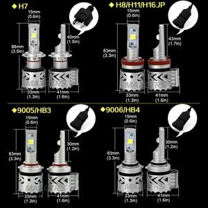 Image 2 - Kit de faros Led para automóvil, H7, H8/H11, H16, JP, HB3/9005, HB4/9006, 9012, D1, D3, Chip CREE, XHP70, 2 uds.
