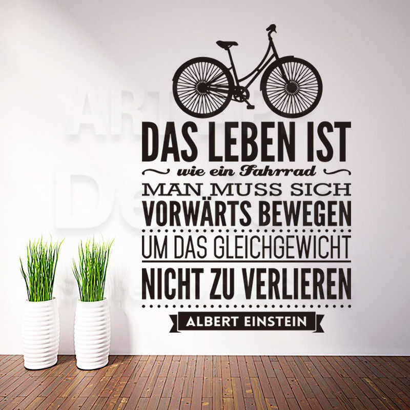 new design home decoration vinyl german words quote rules wall