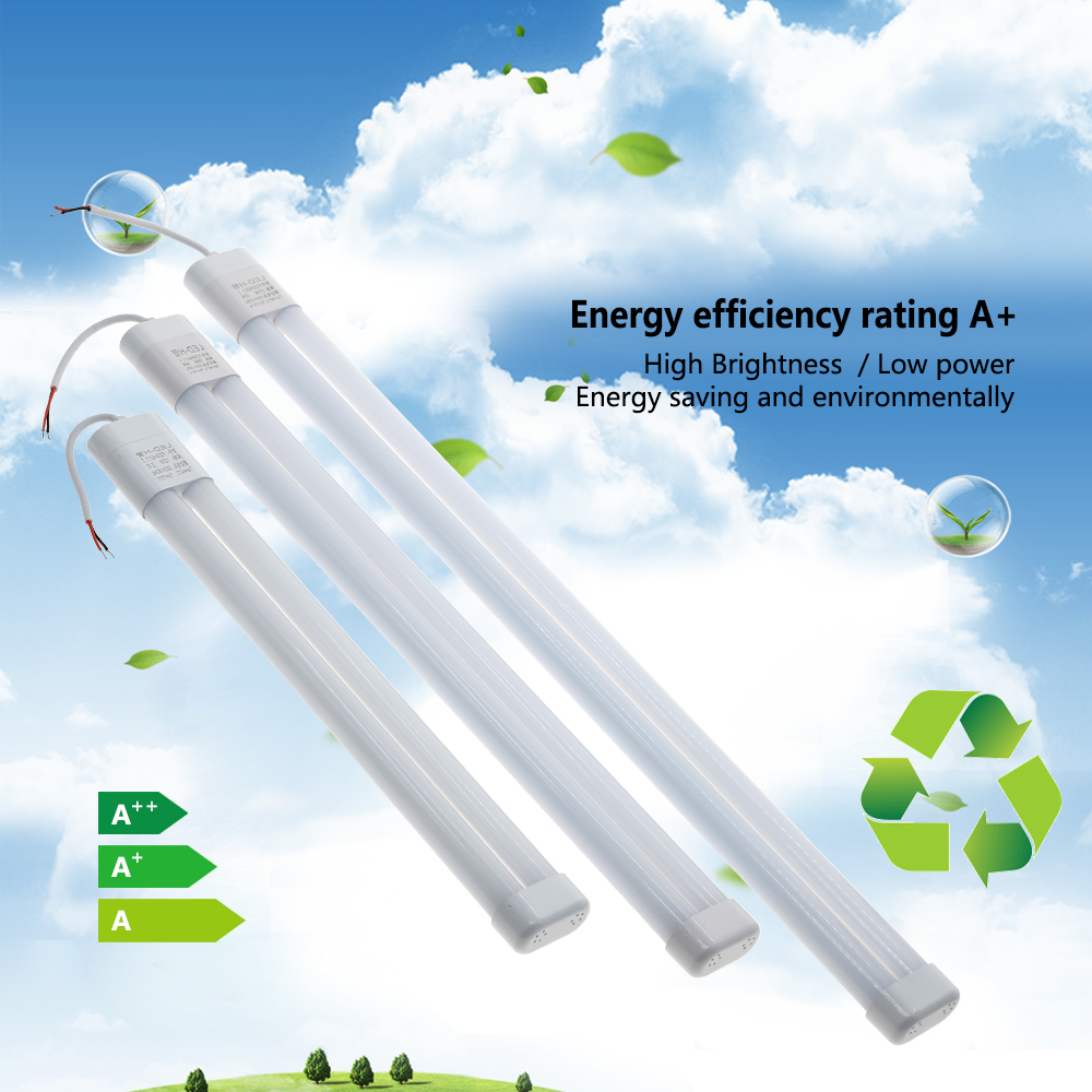 LED Tube 220V Portable H Bar Light 12W 16W 21W Ceiling Light Transformation Fluorescent Wall Lamps Lighting