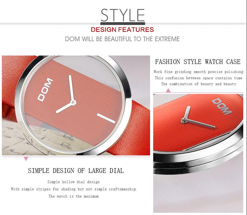 DOM: Reloj de pulsera de lujo para mujer 9