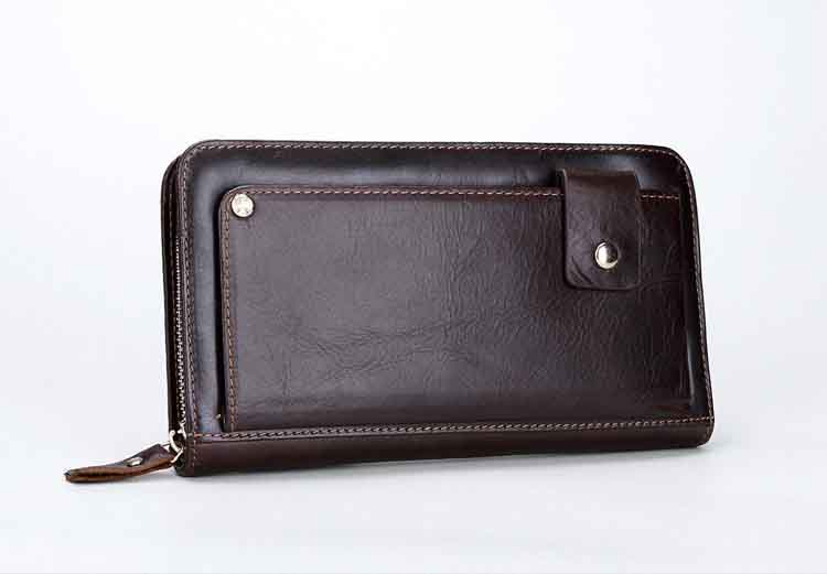 ФОТО MS Mens' Vintage Genuine Leather Clutch Purse Men Business High quality Clutch Hand Bag Cowhide Wallet
