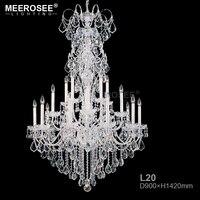 Large Chandelier Modern K9 Crystal Chandeliers Lustres De Cristal Lamparas Long Chandelier Lighting Fixture For Living