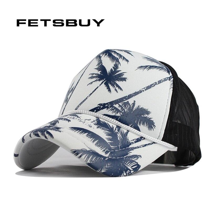 450880ce43e FETSBUY Coconut trees summer baseball cap women snapback caps girl net cap  casquette letter cap bone hats for men women apparel
