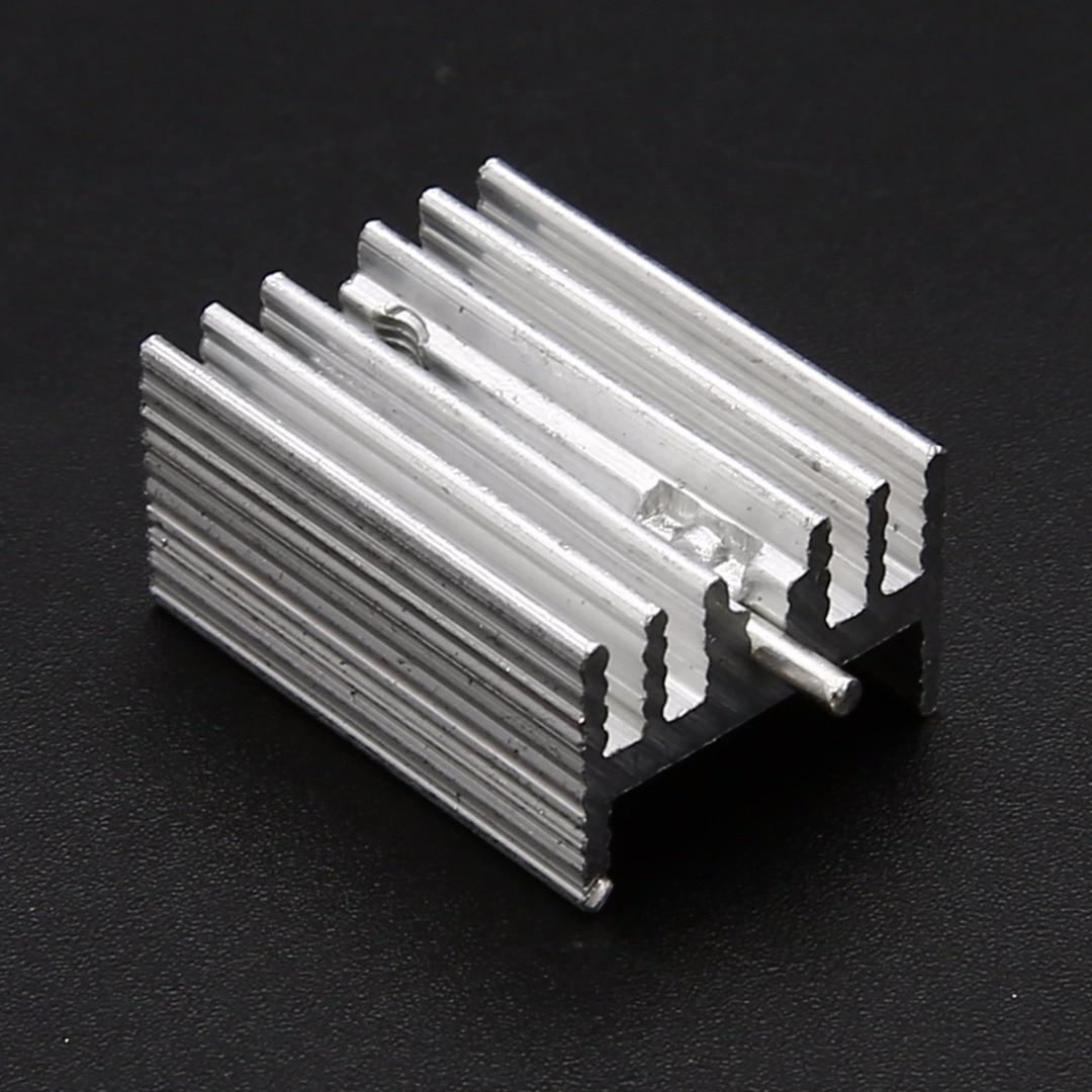 20PCS TO-220 Heat Sink Black 19x15x10mm Aluminum for LED Power Transistors NEW