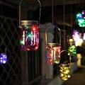 Jarra De Vidro à prova d' água Levou Luz Da Corda Cooper, L40cm Fada Luzes Cordas luz Pote Garrafa de Vidro para o Natal, Decorações do jardim da água
