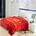 High-quality Soft Velvet Law Levin Fabric Blanket Sheets Football Team Logo World Cup Felts Tapestry Throw Coral Fleece Carpet