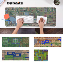 Babaite Simple Design The Legend of Zelda map Gaming Player desk laptop Rubber Mouse Mat PC Computer mousepad