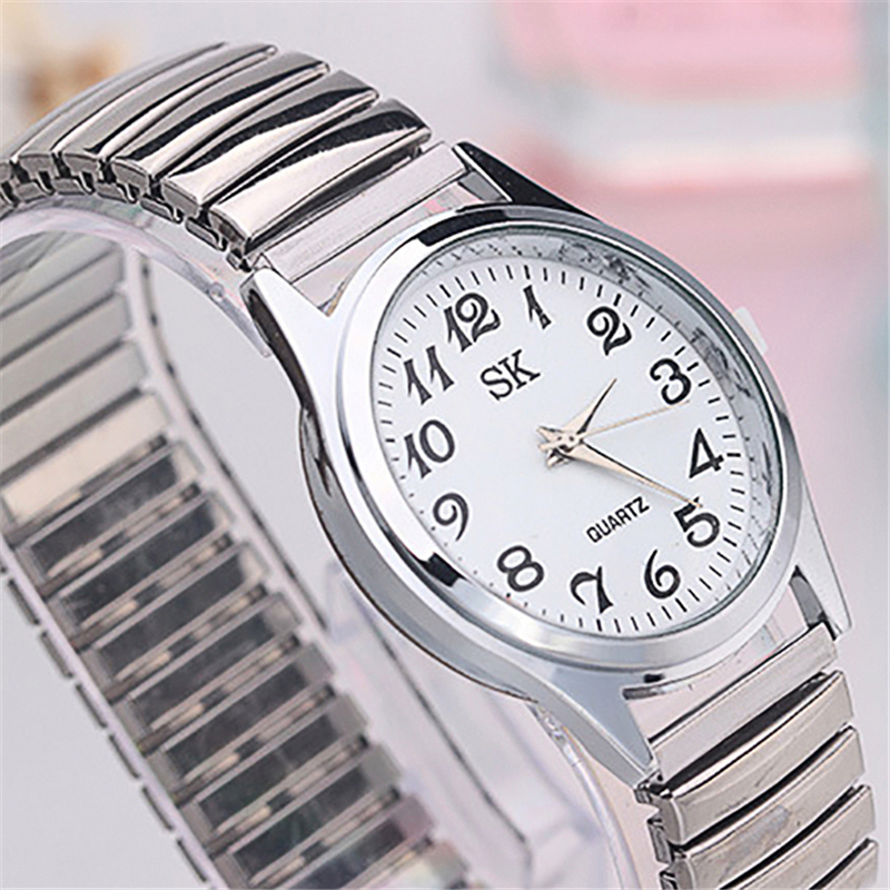 Men Women Wrist Watch Fashion Restoring Quartz Stainless Steel Elastic Strap Band Business Casual Watches Bracelets New Arrival(China)