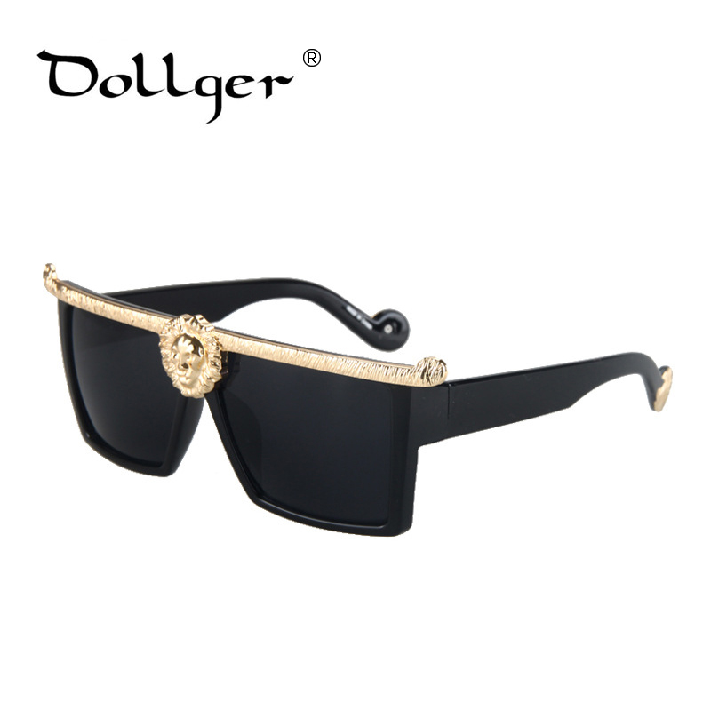 2850a99be3f DOLLGER Luxury Sunglasses Men Gold Vintage Sun Glasses Women Brand Designer Eyewear  Frame Fashion 2017 Style