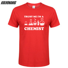 Summer 2019 Trust Me I'm A Chemist Funny T Shirt Men Print Cotton Short Sleeve Chemistry Streetwear Men's T-Shirt Hip Hop Tees