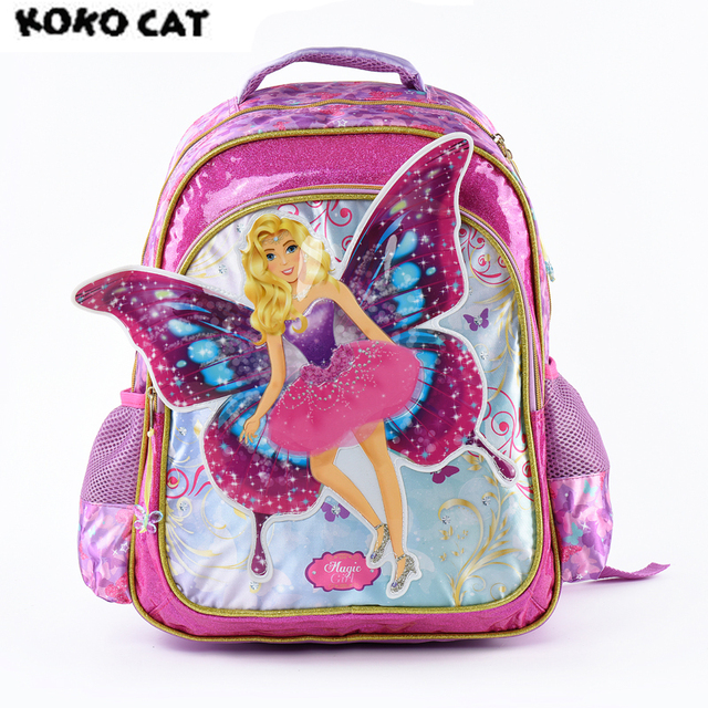Cartoon 3D Kids Children School Backpack Cute Angel Bags Girl Bookbag School  Backpacks for Teens Girls f237a7dea7a1f