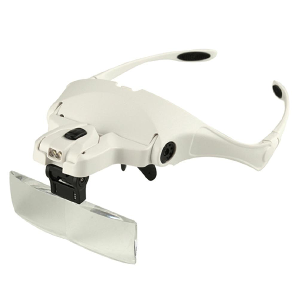 Occhiali Occhiali Lente di Ingrandimento 1.0 X-3.5X Regolabile 5 Lente di Ingrandimento Fascia Lente di Ingrandimento Luci A LED Con Lampada Dei Monili Strumenti di Riparazione
