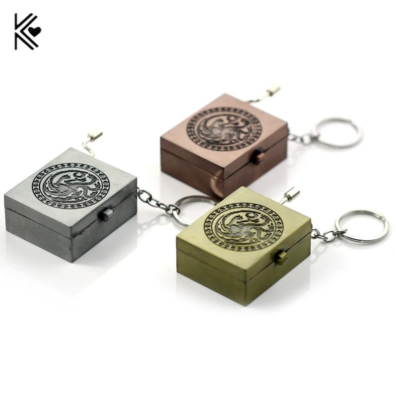 Game of Thrones And Hogwarts DIY Music Box Keychain Women Hand Crank Movements Set 18 Tones Beautiful Melody Brinquedos Gifts
