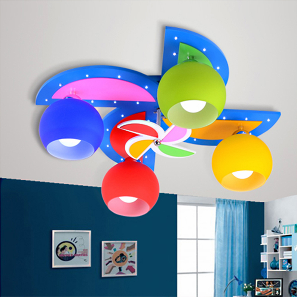 Kids bedroom ceiling lights - High Quality Children Room Windmill Led Ceiling Lights Kids Room Lights E27 Lamp 110 220v