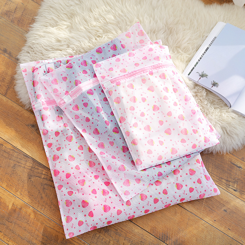 Zippered Mesh Laundry Wash Bags Foldable Lingerie Bra Socks Underwear Washing Machine Clothes Protection Travel Storage Bag Net
