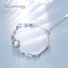 Silvology 925 Sterling Fantasy Island Aurora Gradient Crystal Female Elegant Magical Dainty Bracelet Friendship Fine Jewelry