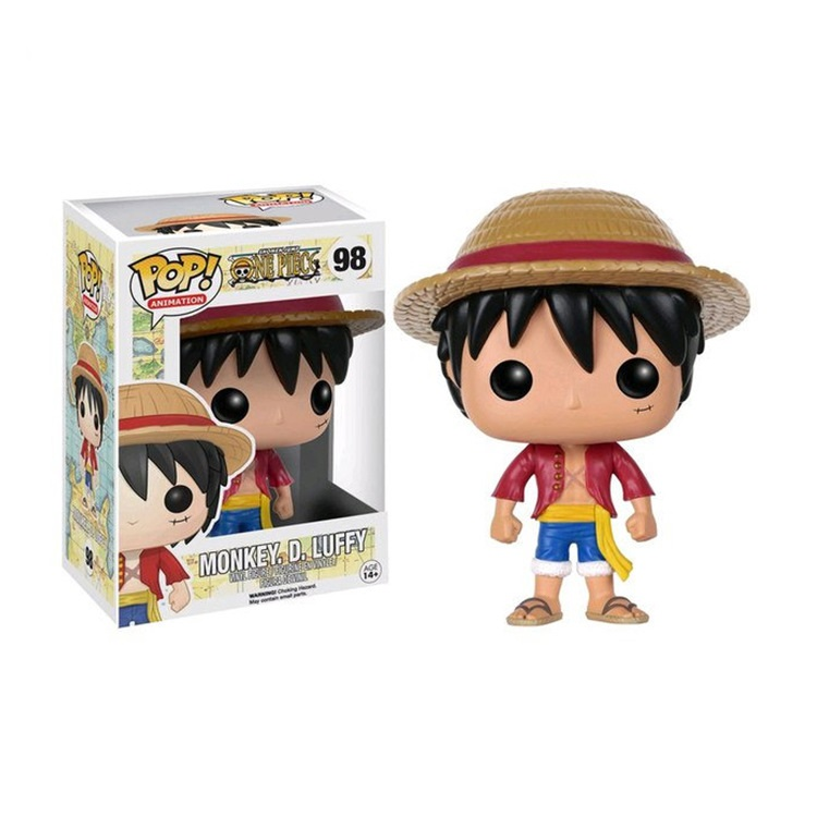 2018 Real Holder Funko Popo 98 One Piece Luffy Anime Figure Doll Character Action Chopper Dest Ornaments Toys For Kids With Box