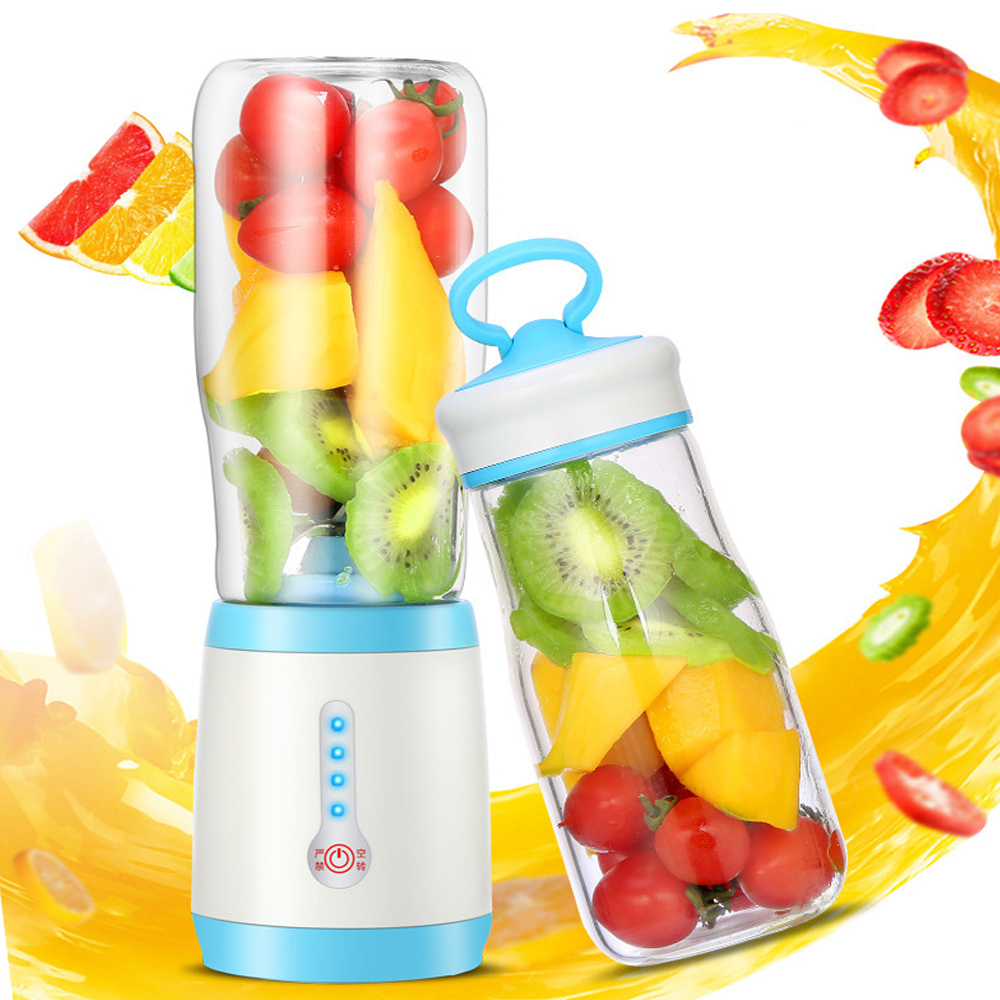 Multifunctional USB Rechargeable Electric Juicers Fruit Extractors Portable Blender Juice Extractor Cup Machine 4 Sharp Blades