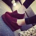 De Las nuevas Mujeres Zapatos de Los Planos 2016 Canva Casual Zapatos de Plataforma de Tacón Grueso Cuñas Mocasines Zapatos de Las Mujeres Solteras 3 Colores Liberan El Envío
