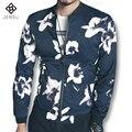2017 Весна Новые Цветочные Куртки и Пальто Jaqueta Masculina мужские Повседневная Мода Тонкий Подходит Куртки Уличная Пиджаки М-5XL
